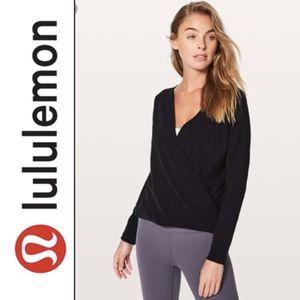 Lululemon Full Freedom Wrap Long Sleeve Black (6)